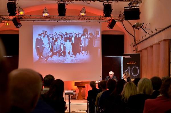 Встреча публики с А.Брюне в зале Монтеверди.