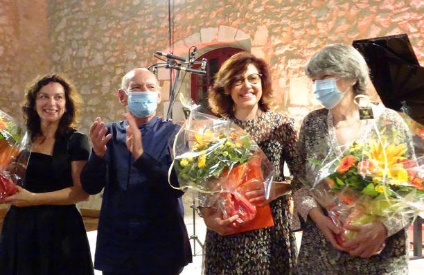Слева-направо: В.Вороновская, З.Зорин. С.Бекер и З.Зорина.