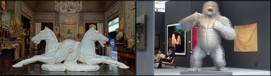 Экспозиция: слева - Galerie Steinitz (A18); справа - Jerome Zodo Gallerie (A30)