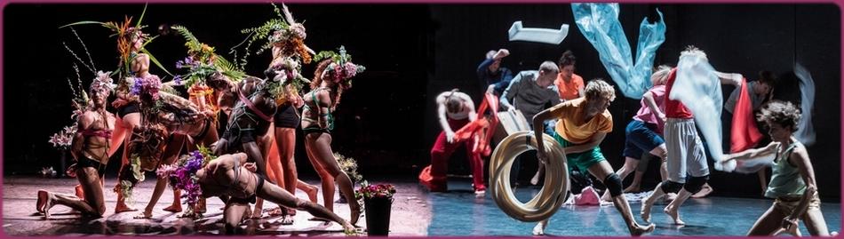 Сцена из спектакля «Nos désirs font désordre». «Nororoca» в хореографии бразильянки Лии Родригес.