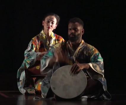 Фрагмент пьесы «Путешествие в Японию»: дуэт музыкантов