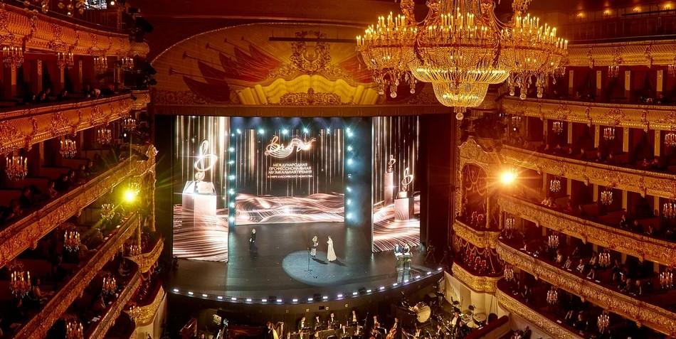 Церемония вручения Международной профессиональной музыкальной премии «BraVo» в Большом театре.