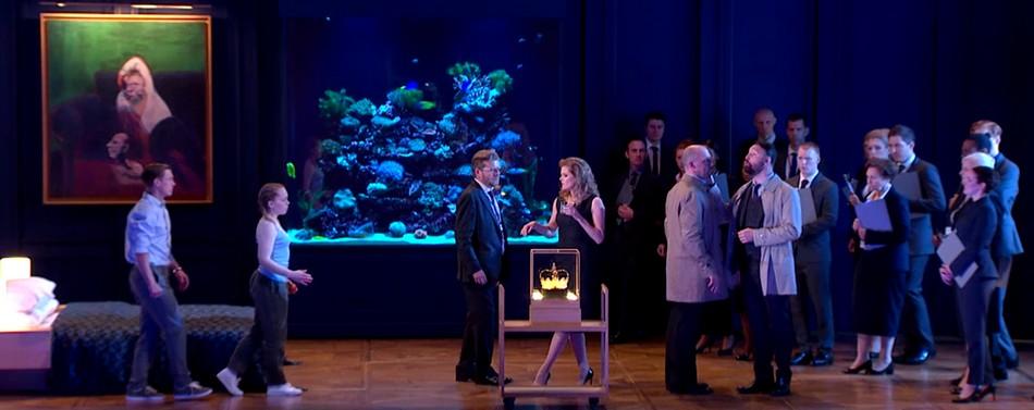 Сцена первой картины с участием всех персонажей