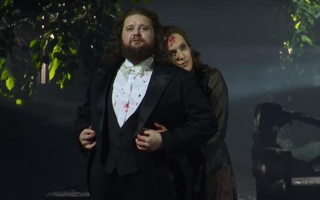 Лирический дуэт Семелы  (Н.Шевалье) и Юпитера (А.Клейтон)